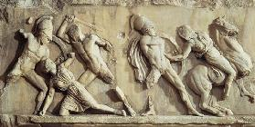 The Battle of the Greeks and the Amazonspart of the frieze from the Mausoleum of Halicarnassus