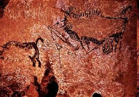 Rock painting of a hunting scene