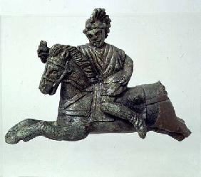 Sconce in the shape of a horseman Roman