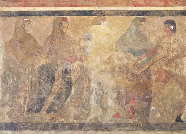 Ritual Funeral Dance, decoration from Tomb no. 11 from Via dei Cappuccini,Ruvo