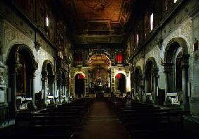 View of the interior looking towards the altar