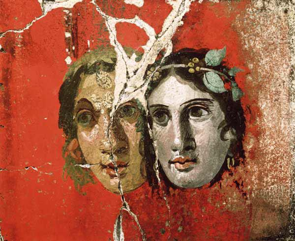 Wall painting of a couplePompeii