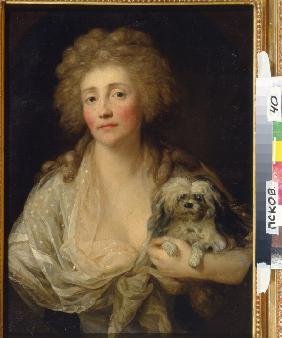 Portrait of Anna Oraczewska with the Dog