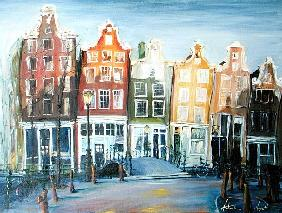 Houses of Amsterdam, 1999 (oil on canvas)