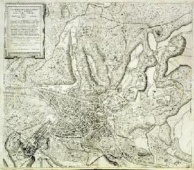 Map of the city of Rome, engraved by the artist, 1557 (engraving)