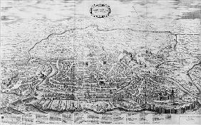 Map of Rome, from the ''Speculum Romanae Magnificentiae'' published in 1562