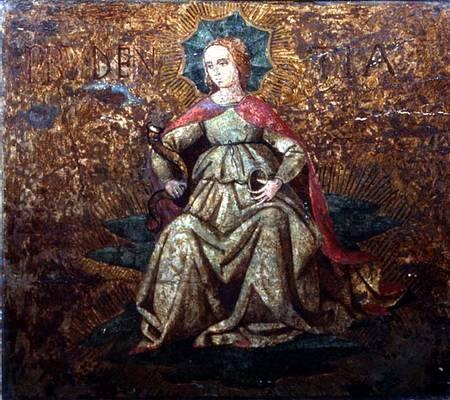 Apollonio di giovanni allegory of prudence end panel of a cassone