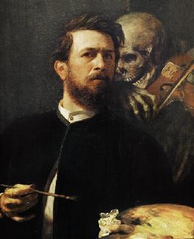 Autoportrait avec la mort au violon