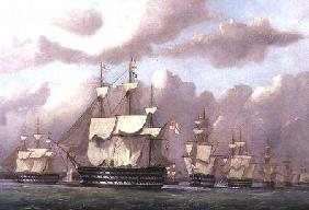 The Vice-Admiral of the White Arriving at Spithead