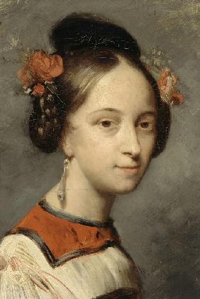 Portrait of the ballerina Marie Taglioni