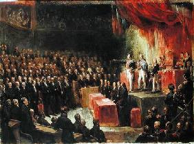 Study for King Louis-Philippe (1773-1850) Swearing his Oath to the Chamber of Deputies