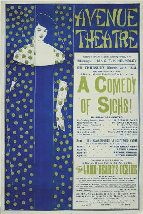 Avenue Theater, A Comedy of Sighs! (Poster)