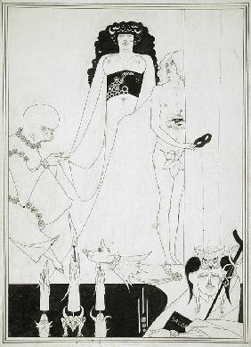 Enter Herodias. Illustration for Salome by Oscar Wilde