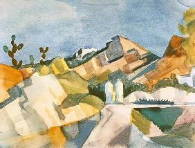 Macke, August : rocheux paysage