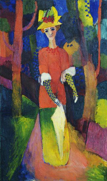 Macke, August : Lady in a Park