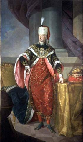 Emperor Francis I (1708-65) Holy Roman Emperor, wearing the official robes of the Order of St. Steph