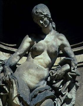 Detail from a sculpture of a nymph