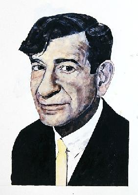 Portrait of Walter Matthau, illustration for The Daily Mirror Colour Supplement
