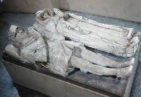 Prieur Barthelemy - Effigies of Anne de Montmorency (1493-1567) Constable and Marshal of France and Madeleine of Savoy (