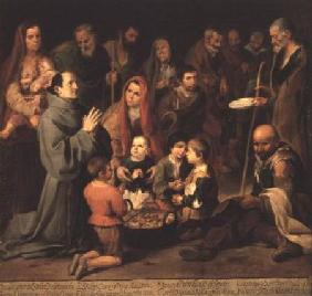 St. Diego of Alcala Giving Food to the Poor
