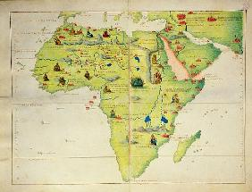 The Continent of Africa, from an Atlas of the World in 33 Maps, Venice, 1st September 1553(see also
