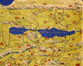 The Sea of Galilee, from an Atlas of the World in 33 Maps, Venice, 1st September 1553(detail from 33