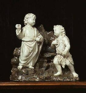 Christ as a boy appearing to the Infant St. John the Baptist, sculpture