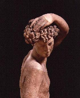 Narcissus, detail of the head, sculpture