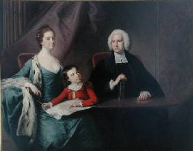 Portrait of Rev. John Fountayne (1741-1802) of Melton-on-the-Hill, his Wife, Ann and their Son, Thom