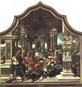 The Destruction of the House of Job, central panel of the Triptych of the Virtue of Patience