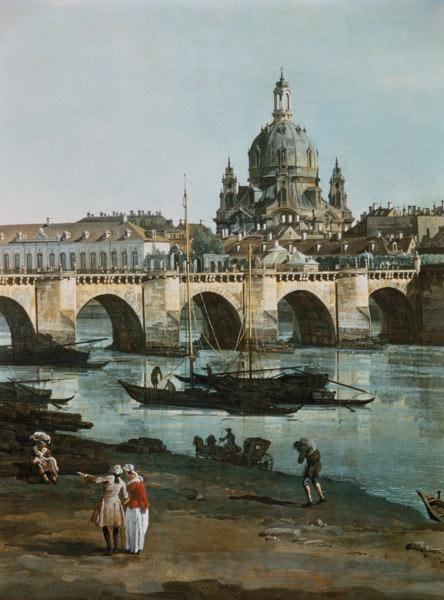 Dresden from right bank of Elbe, Bellotto