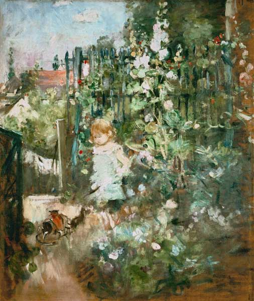 girl in the garden berthe morisot. Black Bedroom Furniture Sets. Home Design Ideas