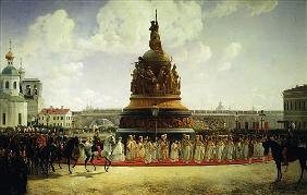 The Consecrating of the Monument to the Millennium of Russia in Novgorod in 1862