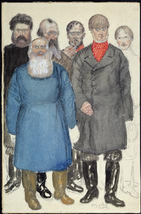 Costume design for the theatre play Wolfs and Sheeps by A. Ostrovsky