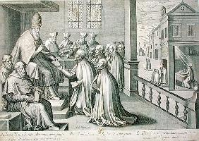 Pope Paul III (1468-1549) Receiving the Rule of the Society of Jesus