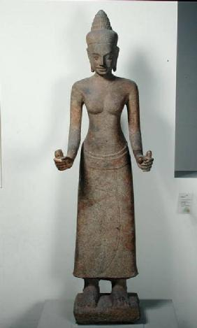 Statue of the goddess, Lakshmi, from Preah Ko, Bayon Style