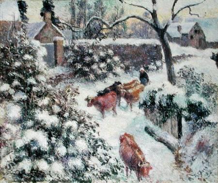 Effet de neige a montfoucault camille pissarro for Camille pissarro oeuvre