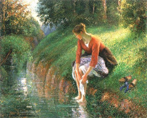 The footbath camille pissarro for Camille pissarro oeuvre