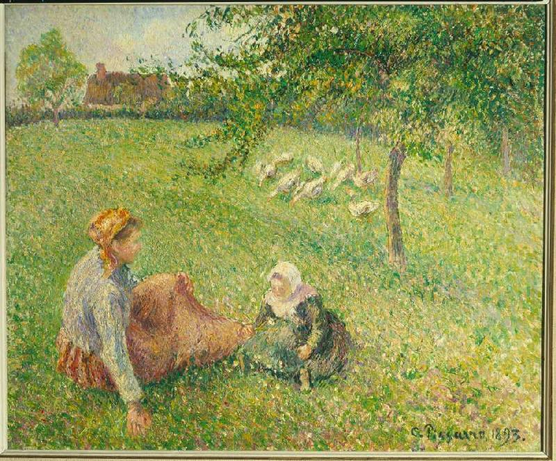 The g nsehirtin camille pissarro for Camille pissarro oeuvre