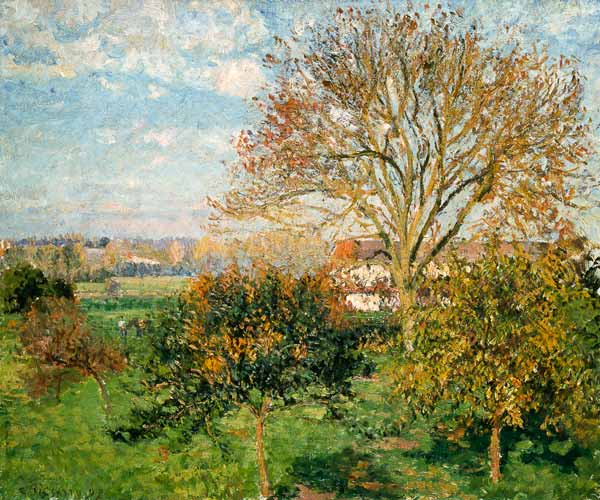 Autumn morning in eragny camille pissarro for Camille pissarro oeuvre