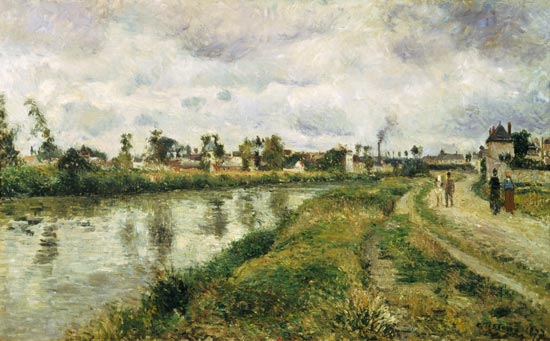 Riverside at argenteuil camille pissarro for Camille pissarro oeuvre