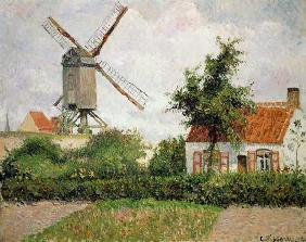 Moulin à vent à Knocke (la Belgique)