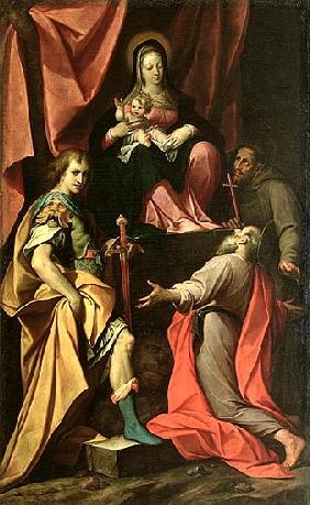 Madonna and Child with St. Vitalis, St. Jerome and St. Francis