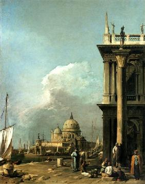 Entrance tonne grand Canal the from Piazzetta the