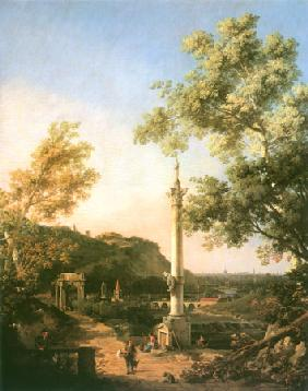 Capriccio : River Landscape with a Column