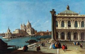 Entrance To Grand Canal, Venice, With Piazzetta And The Church Of Santa Maria Della Salute