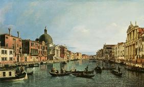 grand Canal : looking South-West from Chiesa the degli Scalzi tonne Fondamenta della Crose the