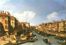 grand Canal : looking South-West from Rialto Bridge tonne the Palazzo FosAri the