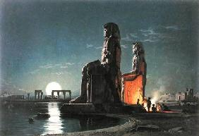 The Colossi of Memnon, Thebes, one of 24 illustrations produced by G.W. Seitz