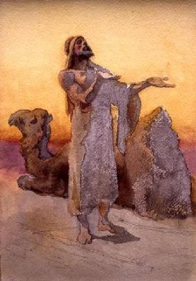 Study of an Arab Praying in the Desert with his Camel